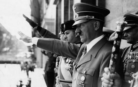 adolf-hitler-and-count-ciano-salute-on-chancellory-balcony-berlin